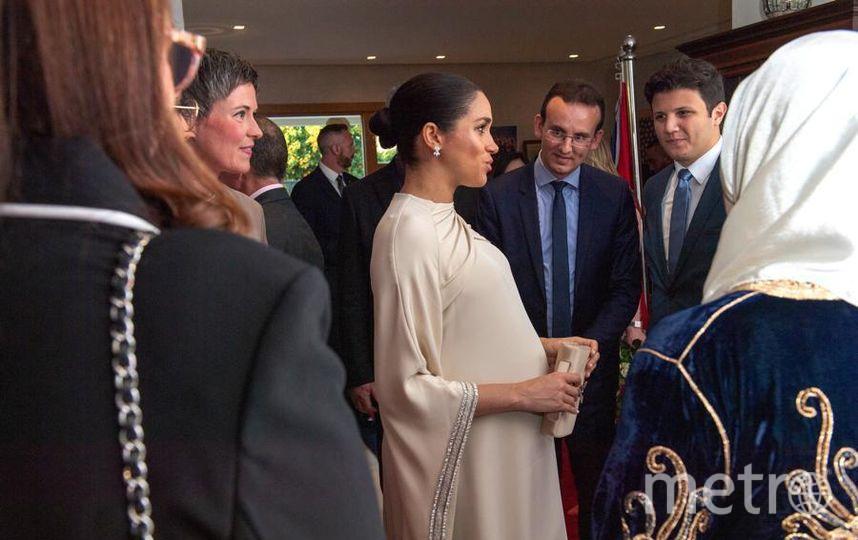 Меган Маркл на приеме у посла Британии в Марокко. Фото Getty