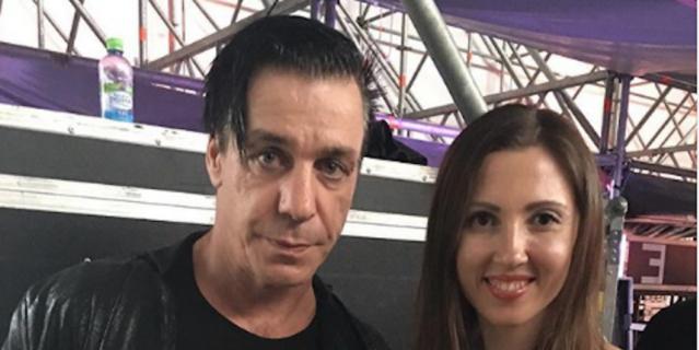 Алёна и звезда Rammstein Тилль Линдеманн.