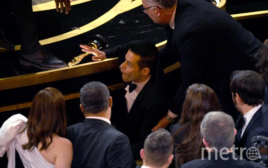 Рами Малек эмоционально отреагировал на свое падение. Фото Getty