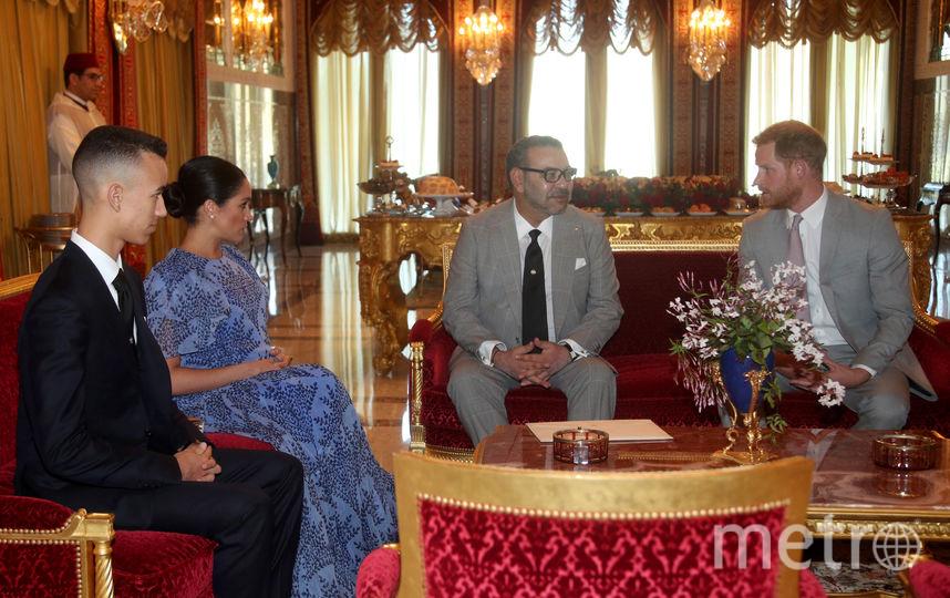 Меган Маркл и принц Гарри в гостях у королевской семьи Марокко. Фото Getty
