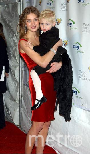 Наталья Водянова со старшим сыном. Фото архив, Getty