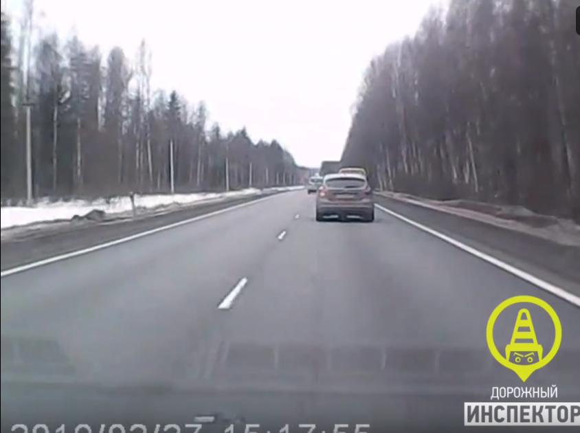 "ДТП на трассе ""Кола"". Фото скриншот видео https://vk.com/dorinspb"