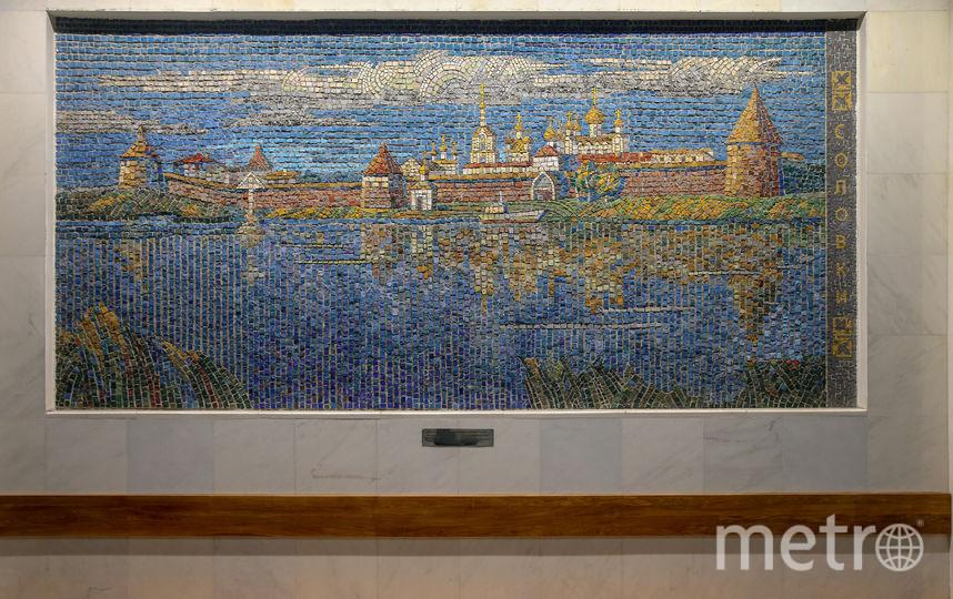 Соловецкий монастырь на мозаичном панно. Фото Василий Кузьмичёнок