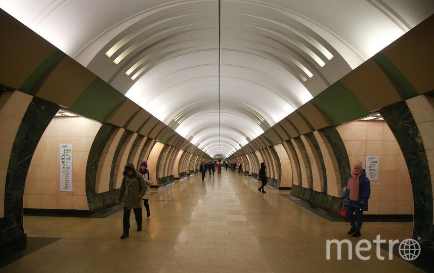 "Платформа станции ""Марьина Роща"". Фото Василий Кузьмичёнок"
