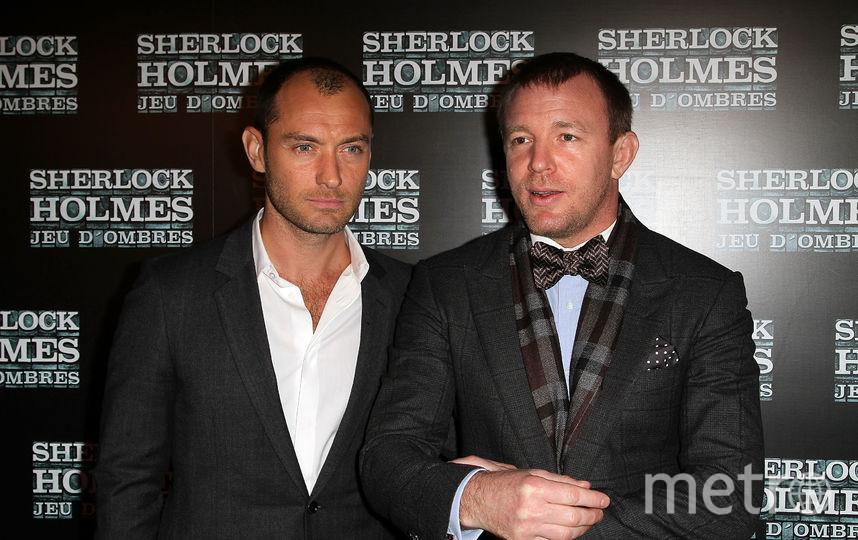 "Джуд Лоу и Гай Ричи на премьере предыдущей части ""Шерлока Холмса"". Фото Getty"