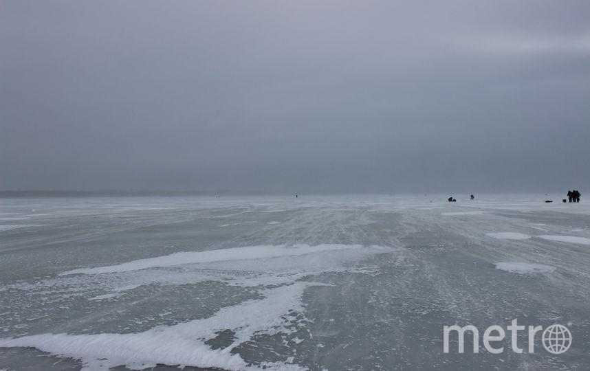 """Финский залив превращается в целый рыбачий город. Фото Дарья Есенина., """"Metro"""""""