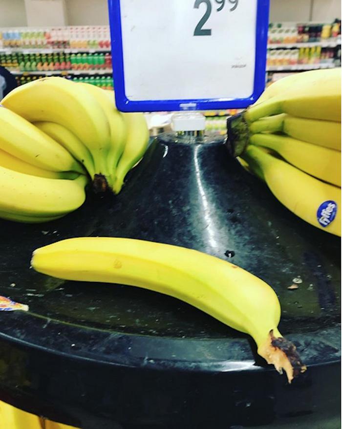 Одинокий банан. Фото Instagram/gertrudaminsk