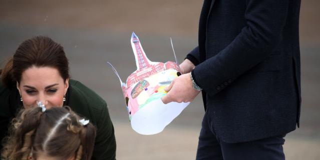 Принц Уильям и Кейт Миддлтон в Блэкпуле.