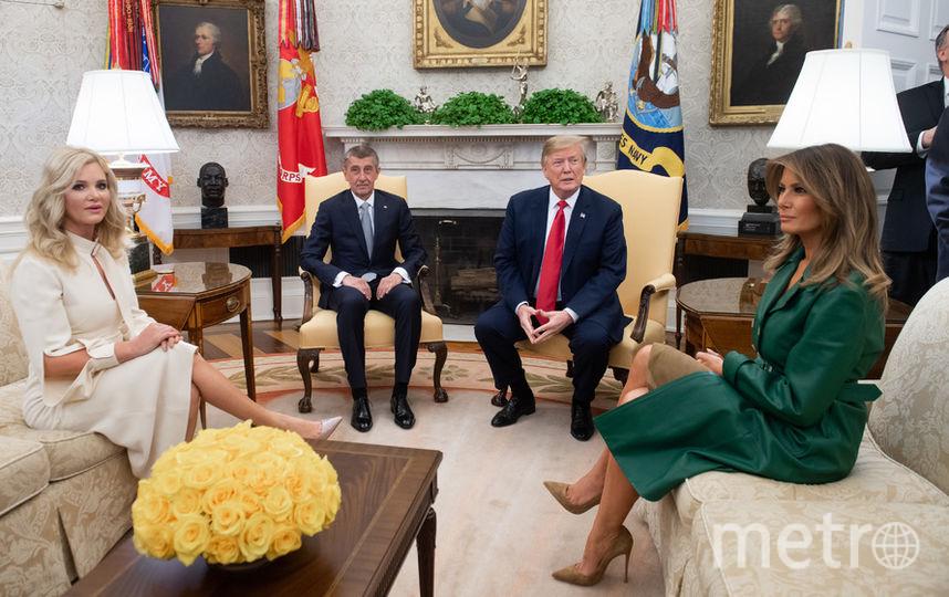 Дональд и Мелания Трамп вместе с Андреем Бабишем и Моникой Бабишовой. Фото AFP