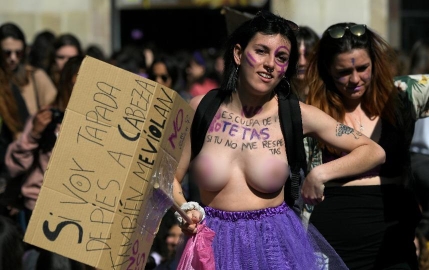 Акция в Барселоне. Фото AFP