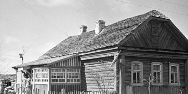 Дом, в котором Юрий Гагарин жил в детстве.