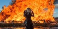 В Никола-Ленивце сожгли Бастилию: Фото