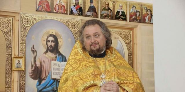 Олег Емельяненко, настоятель храма cвятителя Спиридона Тримифунтского (г. Ораниенбаум).