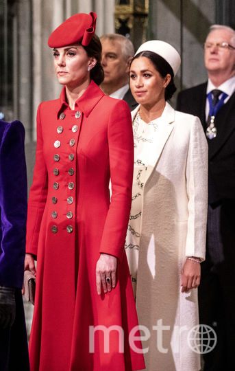Кейт Миддлтон и Меган Маркл на службе в Вестминстерском аббатстве. Фото Getty