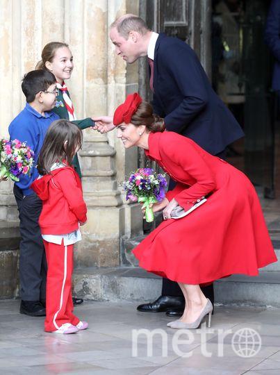 Кейт Миддлтон на службе в Вестминстерском аббатстве. Фото Getty