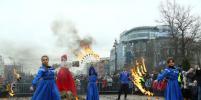 В честь масленицы «Теремок» приготовил гигантский блинный пирог и бесплатно угостил жителей Санкт-Петербурга.