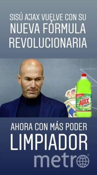 Название моющего средства «Аякс» совпадает с именем клуба, выбившего «Реал» из Лиги чемпионов. В Сети шутят, что чистящая формула Зидана будет сильнее. Фото Это и другие фото – мемы из instagram