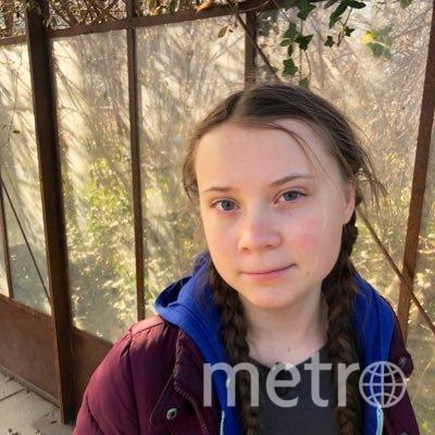 "16-летняя Грета. Фото https://twitter.com/GretaThunberg, ""Metro"""