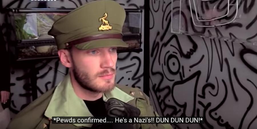 """Нацистский"" костюм шведского блогера. Фото Скриншот Youtube/watch?v=QGX2mJ6IbS0"