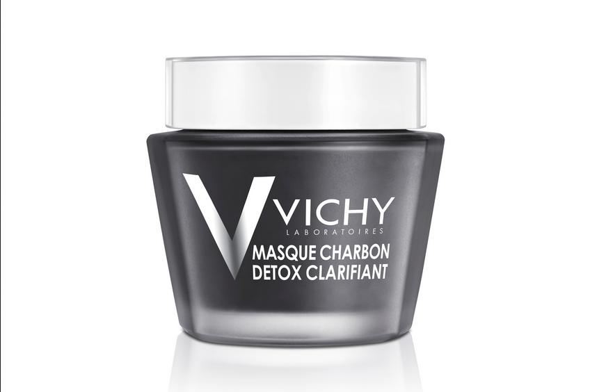Детокс-маска с углём VICHY MINERAL MASK Deep Detox Exfoliating Charcoal.