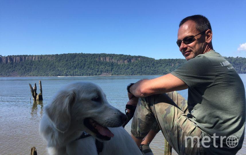 Тимофей Юрьев и его собака Кира. Фото предоставили Тимофей Юрьев/CVJTF Group