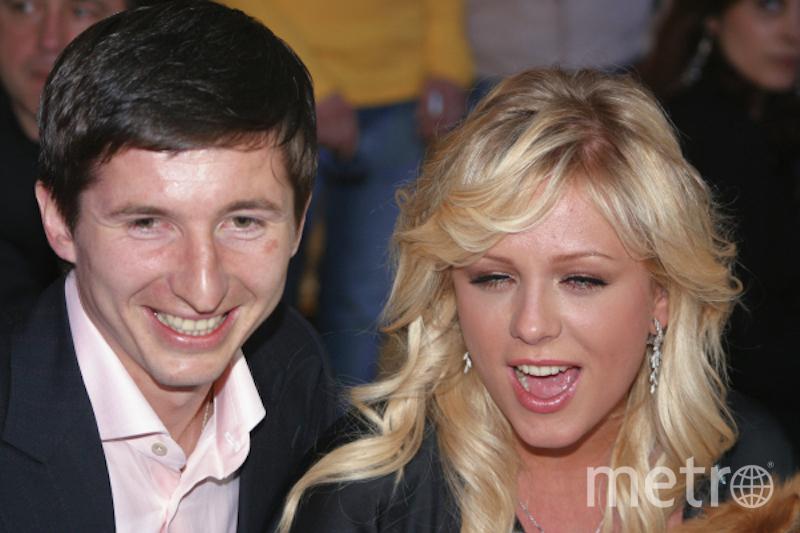 Юлия Началова с футболистом Евгением Алдониным, бывшим мужем. Фото РИА Новости