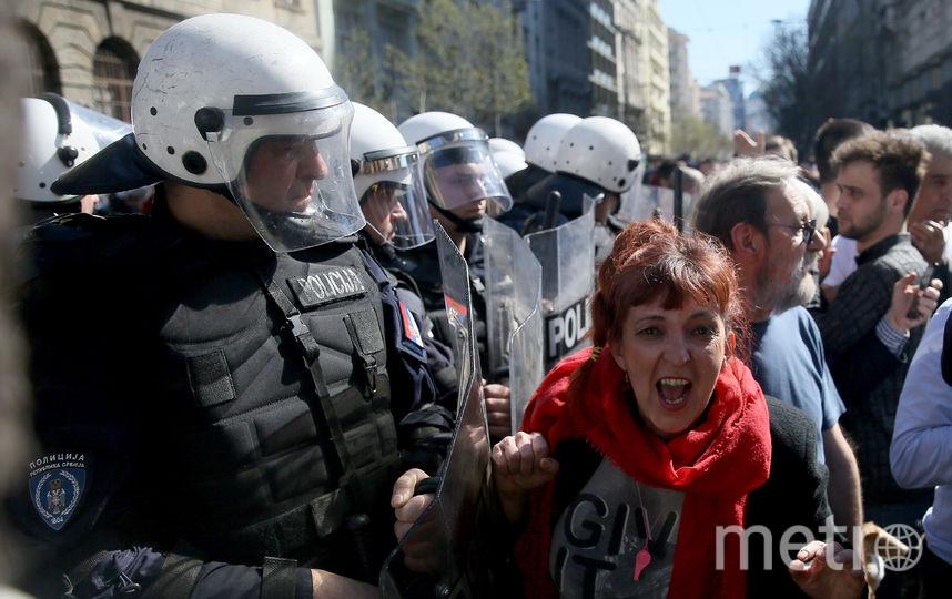 В Белграде продолжаются демонстрации. Фото AFP