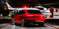 Спорткар-Центр доставил новый Porsche Macan на презентацию в фюзеляже вертолета МИ-8
