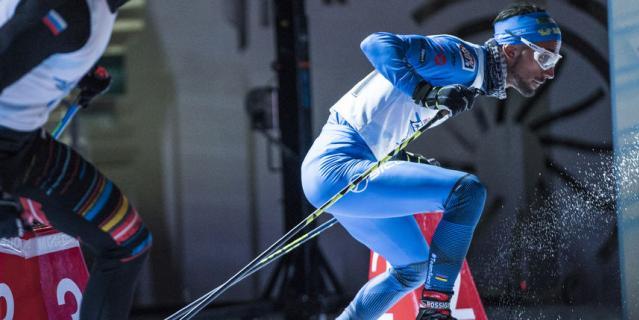 Итальянский лыжник Эмануэль Беккис.