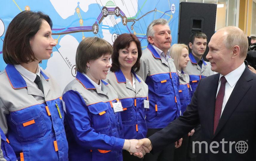 Владимир Путин прибыл на полуостров 18 марта. Фото AFP