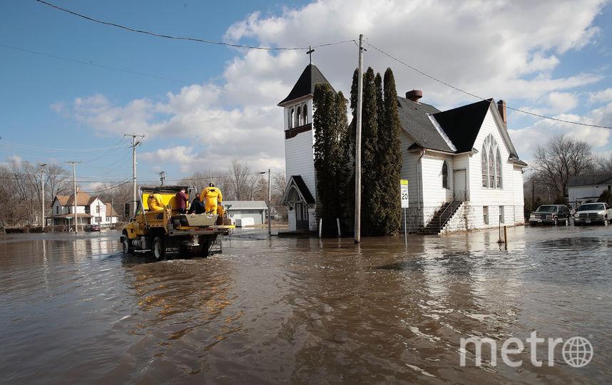 Наводнение в городе Фрипорт, штат Иллинойс. Фото Getty