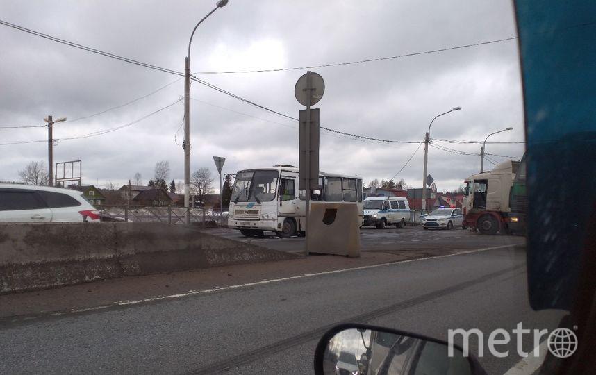Фото с места ДТП на трассе. Фото https://vk.com/spb_today, vk.com