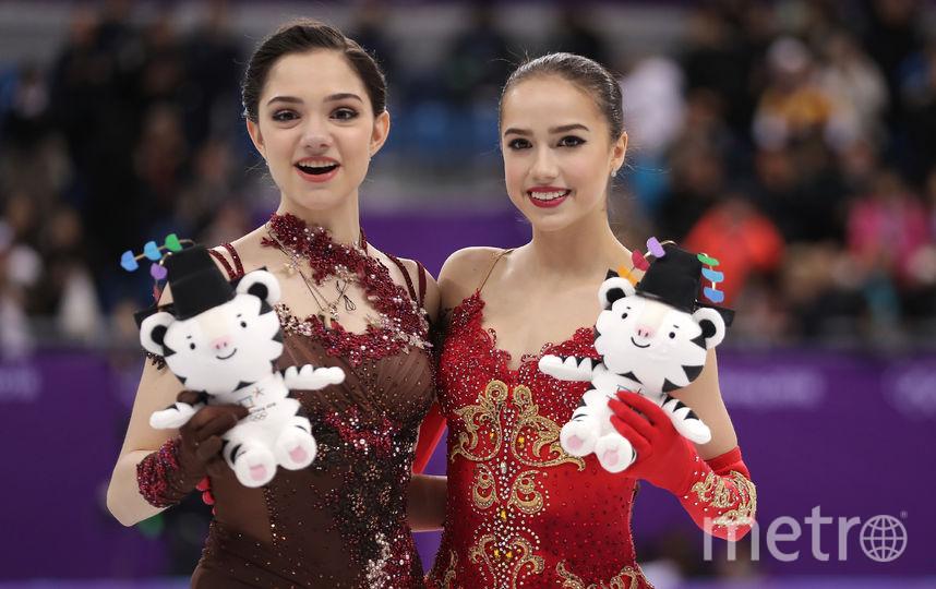 Медведева и Загитова. Фото Getty