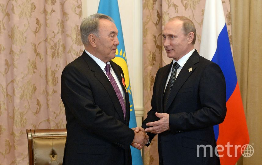 Нурсултан Назарбаев и Владимир Путин. Архивное фото. Фото Getty