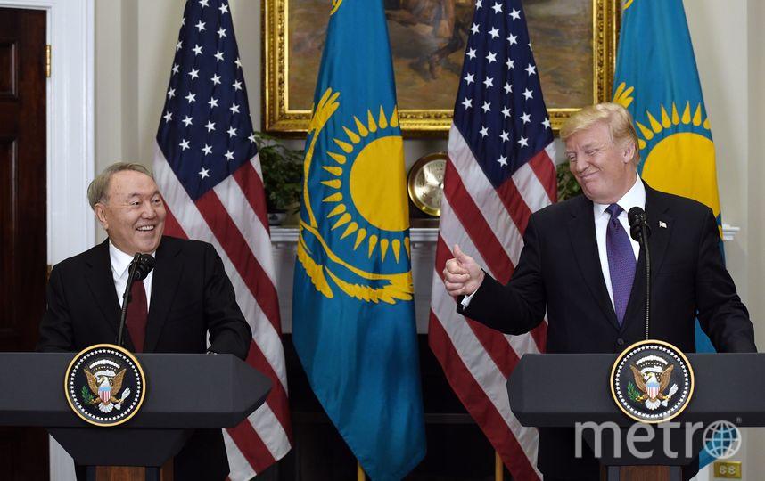 Нурсултан Назарбаев и Дональд Трамп. Архивное фото. Фото Getty