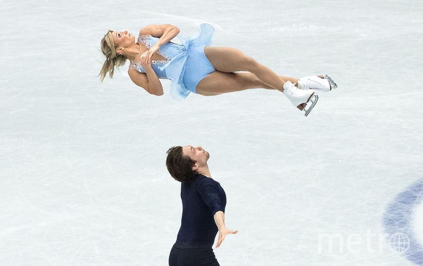 Канадские фигуристы Кирстен Мур-Тауэрс и Майкл Маринаро. Фото AFP