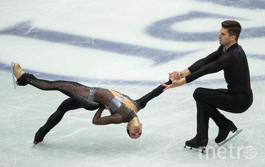 Итальянские фигуристы Николь Делла Моника и Маттео Гуаризе. Фото AFP