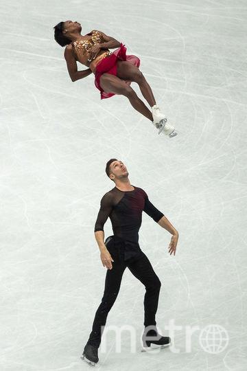Ванесса Джеймс и Морган Сипре, выступающие за Францию. Фото AFP