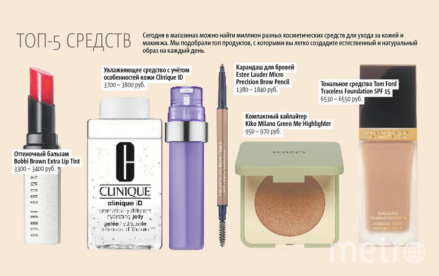 """ТОП-5 средств для создания натурального и естественного макияжа на каждый день. Фото """"Metro"""""""
