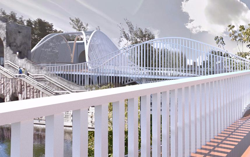 Проект пешеходного моста. Фото mos.ru