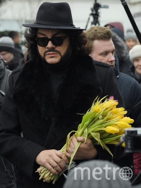 Филипп Киркоров на церемонии прощания с Юлией Началовой. Фото РИА Новости