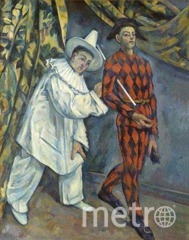 Картина Пьеро и Арлекин, написанная французским художником Полем Сезанном. Фото Предоставлено ГМИИ им. А.С.Пушкина