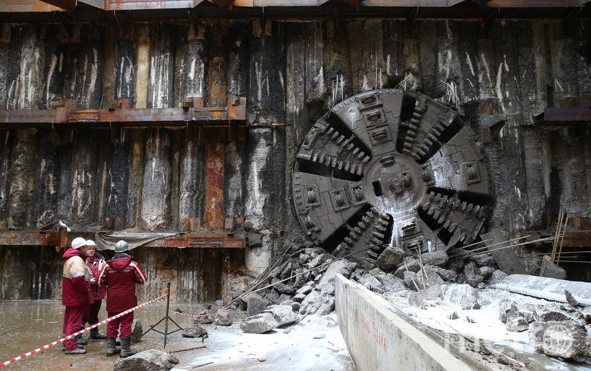 На фото момент, когда проходческий щит пробурился на станцию Стромынка. Фото Василий Кузьмичёнок