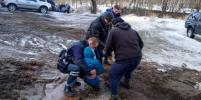 В Выборге ребёнка засосало в яму с водой и глиной