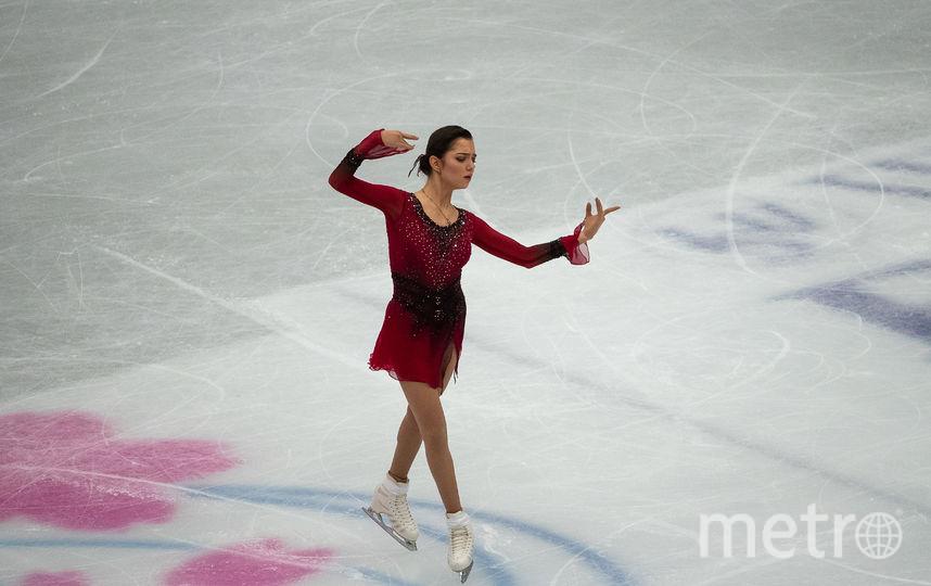 Евгения Медведева в первый соревновательный день. Фото AFP