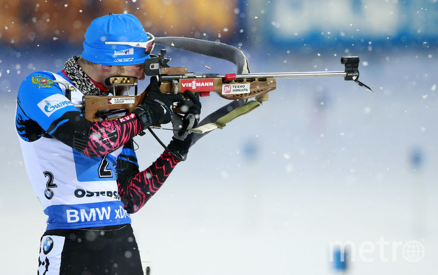 Российский биатлонист Александр Логинов. Фото Getty