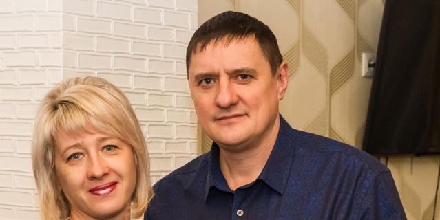 Татьяна Бурсина с мужем.