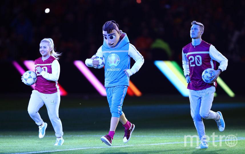 Талисман чемпионата Европы по футболу Скиллзи. Фото Getty