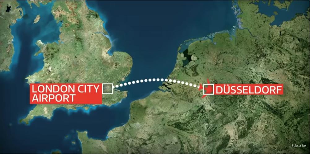 """Лайнер должен был лететь в Дюссельдорф. Фото https://t.me/planerka_org, """"Metro"""""""
