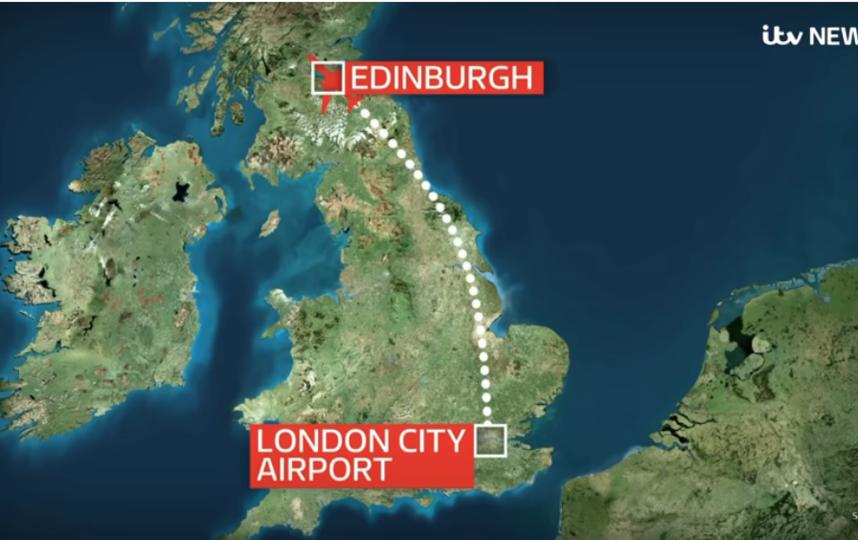 """А отправился в другую сторону - в Эдинбург. Фото скриншоты youtube, """"Metro"""""""